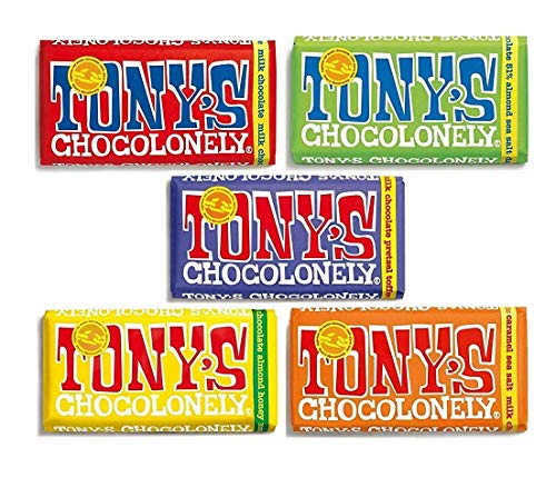 Tony's Chocolonely Chocolate 180g - 5 Pack, Mix of All 5 Milk Chocolate Flavours von Tony's Chocolonely