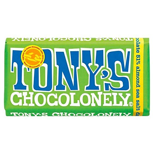 Tony's Chocolonely Dark Chocolate 51% Almond Sea Salt 180g von Tony's Chocolonely