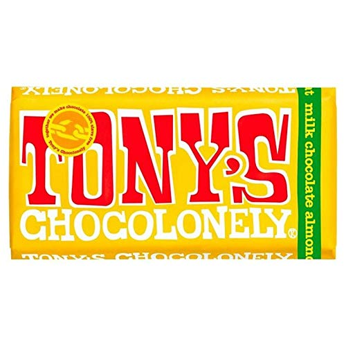Tony's Chocolonely Milk Chocolate 32% Almond Honey Nougat 180g von Tony's Chocolonely