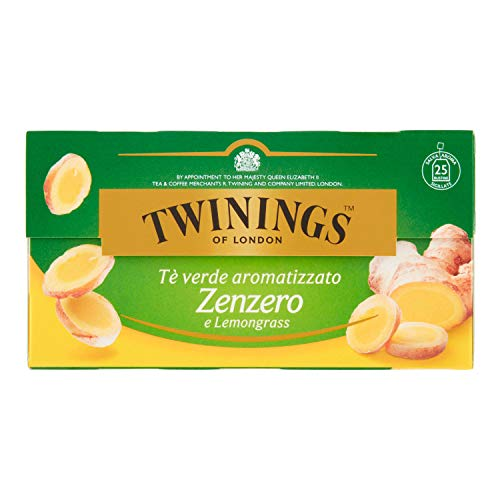 GINGER GREEN TEE ZENZERO TE GREEN AND LEMONGRASS 25 FILTERS von Twinings