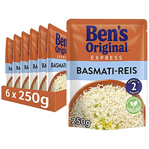 Uncle Ben's Express-Reis Basmati Reis, 6 Packungen (6 x 250g) von UNCLE BEN'S