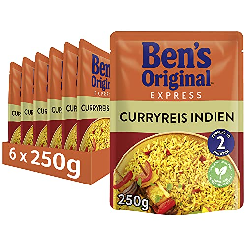 Uncle Ben's Express-Reis Curryreis, 6 Packungen (6 x 250g) von UNCLE BEN'S