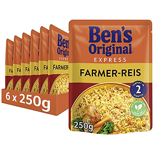 Uncle Ben's Express-Reis Farmer Reis, 6 Packungen (6 x 250g) von UNCLE BEN'S