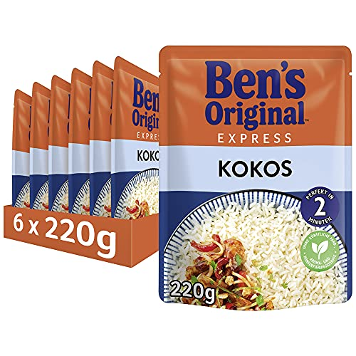 Uncle Ben's Express-Reis Kokos, 6 Packungen (6 x 220g) von UNCLE BEN'S