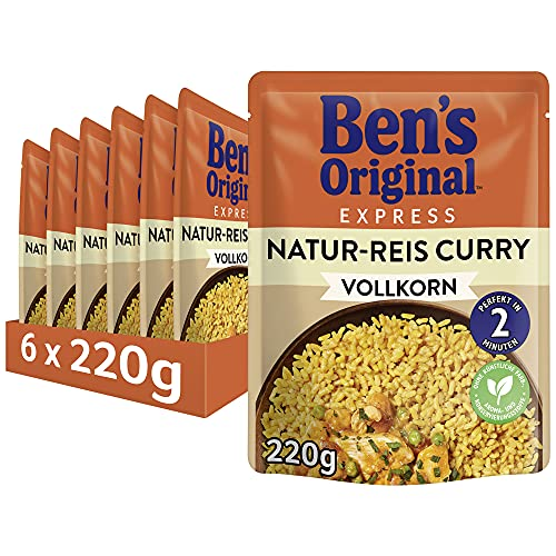 Uncle Ben's Express-Reis Naturreis Curry, 6 Packungen (6 x 220g) von Uncle Ben's