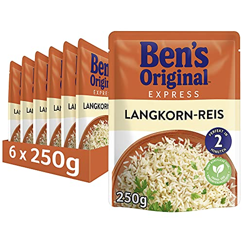 Uncle Ben's Express-Reis Original Langkorn Reis, 6 Packungen (6 x 250g) von Uncle Ben's
