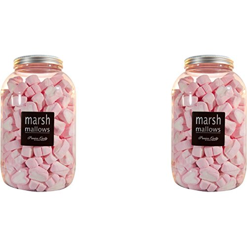 Mellow Herzen 200 Stk. in der Retrodose Schaumzuckerware Marsh-Mallows (2er Pack) von Mellow Mellow