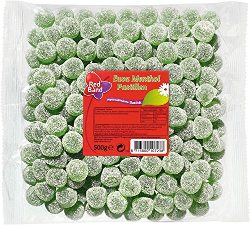Red Band Euca Menthol Frucht gummi 500 g, 1er Pack (1 x 0.5 kg) von Red Band