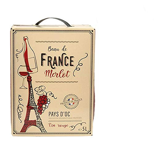 Rotwein Frankreich Bag-in Box Merlot (1x5,0l) von Grands Chais de France | F-67290 Petersbach