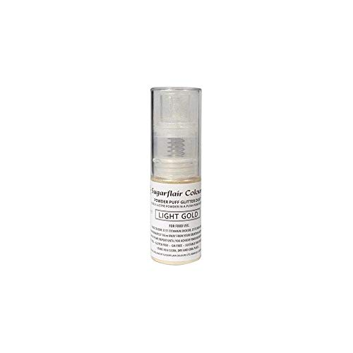 Sugarflair Powder Puff Glitter Dust Spray - Light Gold 10g von Sugarflair