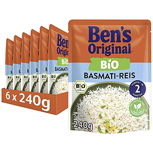 Uncle Ben's Express-Reis Bio Basmati, 6 Packungen (6 x 240g) von Uncle Ben's