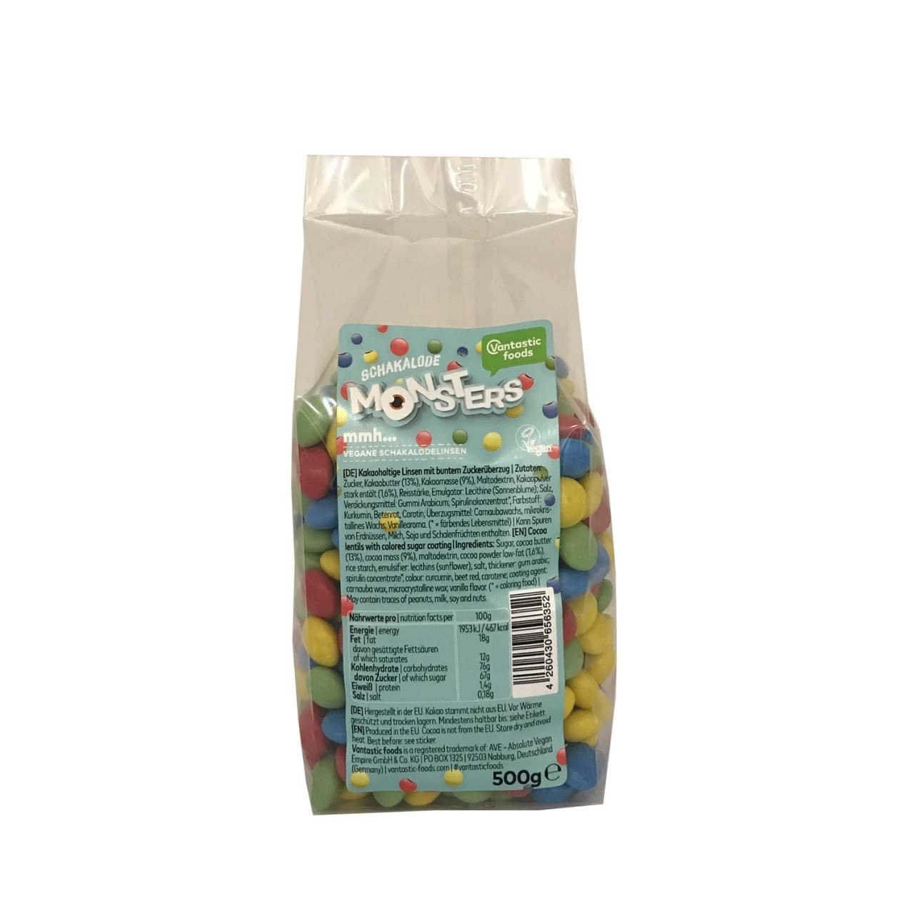 Vantastic foods SCHAKALODE Monsters, Bulk 500g von Vantastic foods
