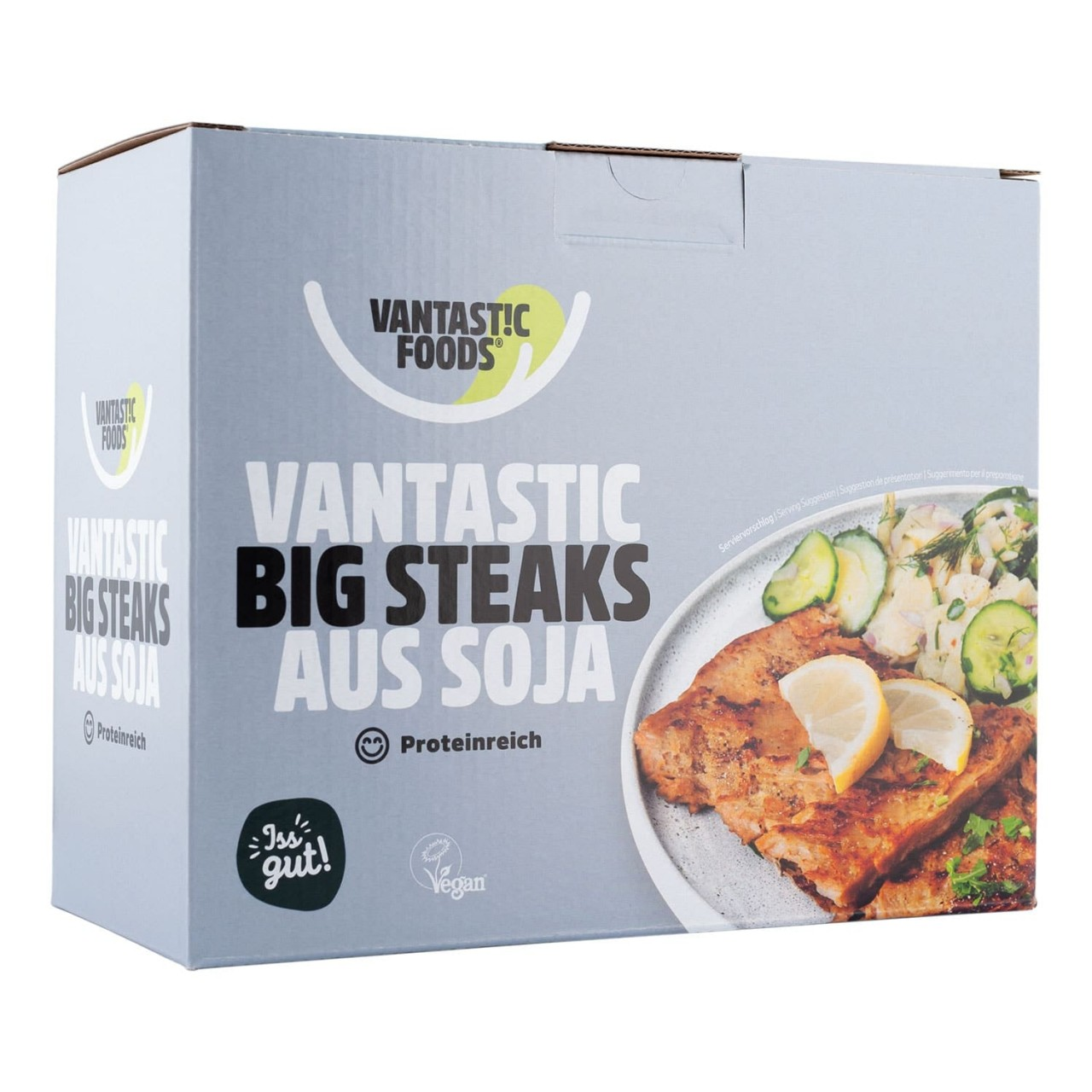 Vantastic foods VANTASTIC BIG STEAKS aus Soja, 500g von Vantastic foods