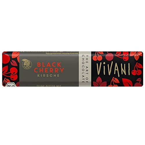 Vivani Organic Chocolate | Black Cherry | 4 x 35g von Vivani Organic Chocolate