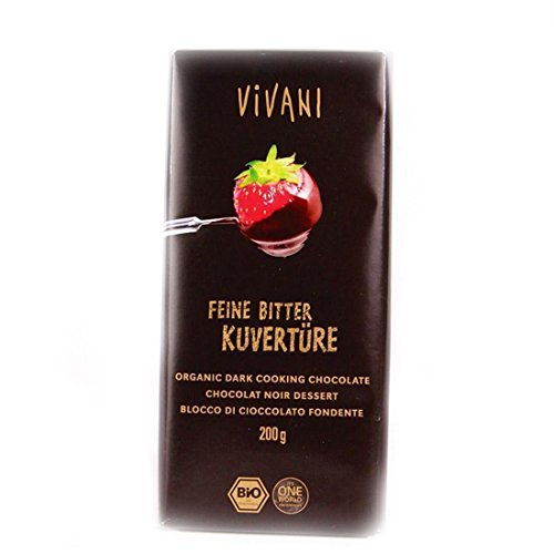 Vivani Organic Chocolate | Dark Cooking Chocolate | 8 x 200g von Vivani Organic Chocolate