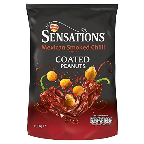 Walkers Sensations Mexican Smoked Chilli Coated Peanuts (165g) - Packung mit 6 von Walkers (Crisps, Snacks & Dips)