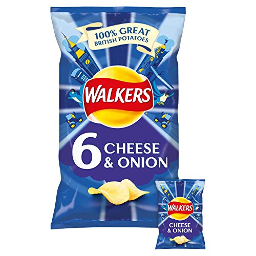 Walkers Cheese & Onion Chips 6 x 25 g von Walkers