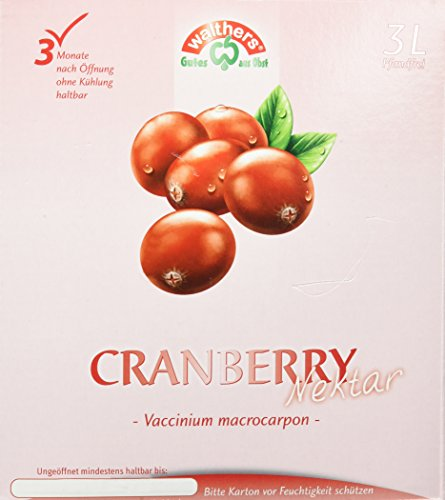 Walthers Cranberry Nektar, 1er Pack (1 x 3 l Saftbox) von WALTHERS