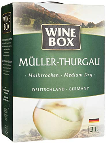 Wine Box Müller-Thurgau Landwein Rhein halbtrocken Bag-in-Box (1 x 3 l) von WineBox