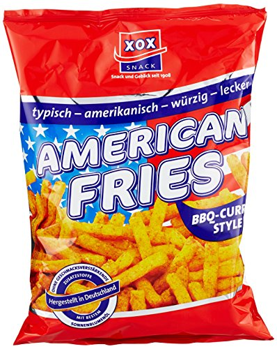 XOX American Fries BBQ-Curry Style, 10er Pack (10 x 125 g) von XOX