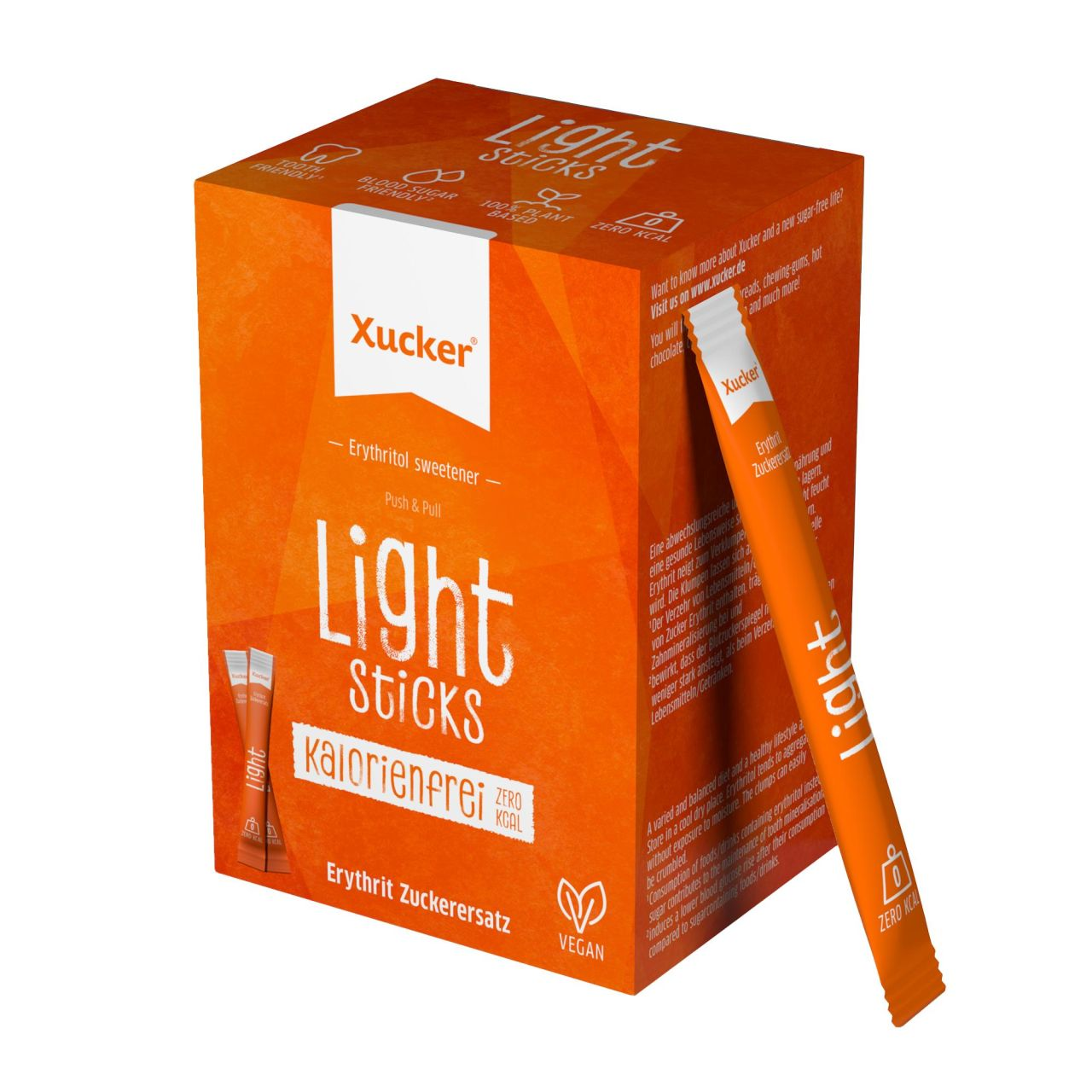 Xucker Light Sticks Schachtel (Erythrit) von Xucker