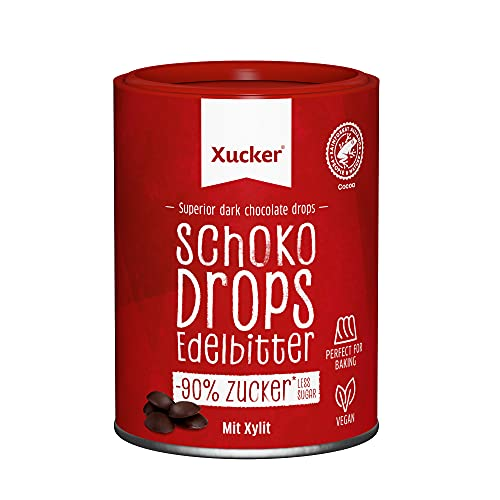 Xucker Chocolate-Drops, 75% Kakao, 1-er Pack (1 x 200 g) von Xucker