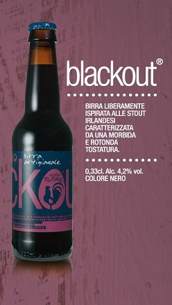 BIRRIFICIO RURALE - BLACKOUT Craft Italian Bier (33 cl) - Das Paket von 6 Bott. von YesEatIs