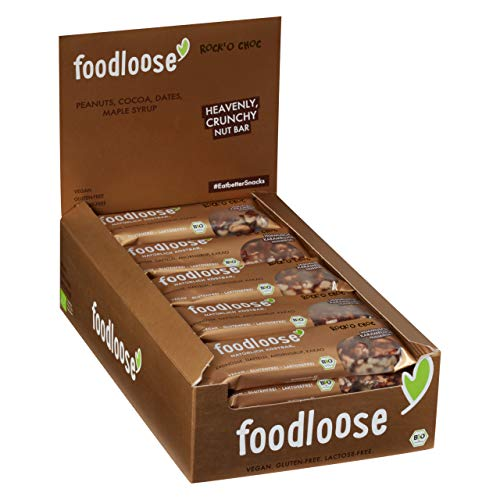 Bio-Nussriegel Rock O Choc von foodloose Vorteilspack (24 Riegel) von foodloose