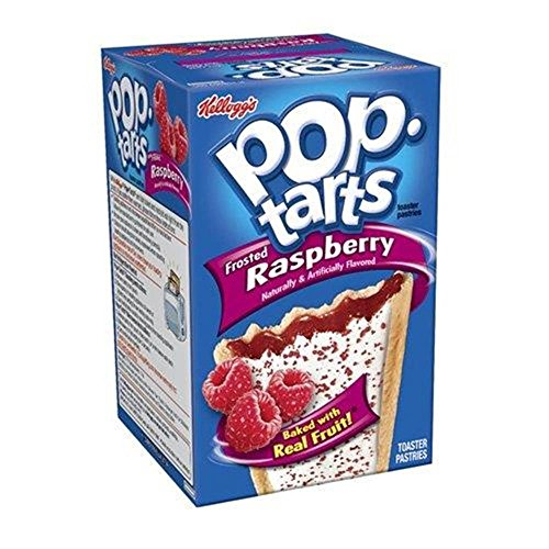 Kelloggs Pop-Tarts Blueberry Cherry Raspberry Chocolat Smore Cookies and Creme Cinamon Rolls Chip Confetti Cupcake Brown Sugar Fugde Sunday Grape Strawberry (Raspberry Frosted) von lifestyledrinkz